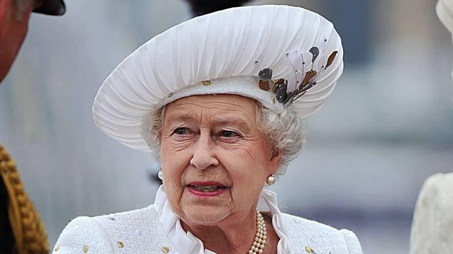 Rainha Elizabeth II durante seu jubileu de diamante, em Londres