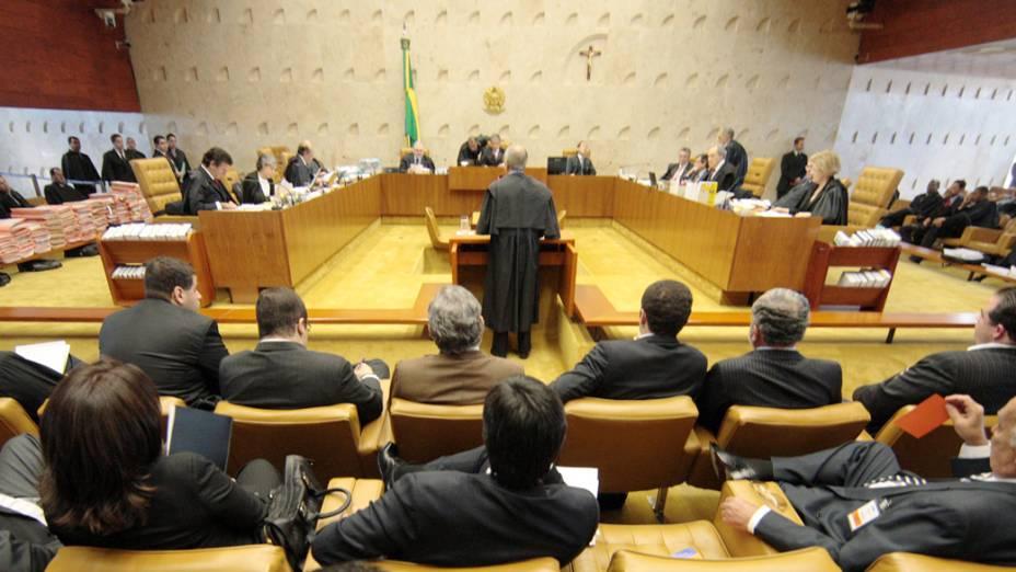 Ministros durante o julgamento do mensalão, em Brasília