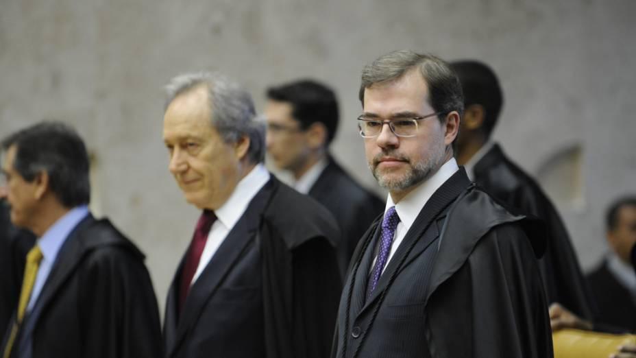 José Antonio Dias Toffoli no julgamento do mensalão, em Brasília