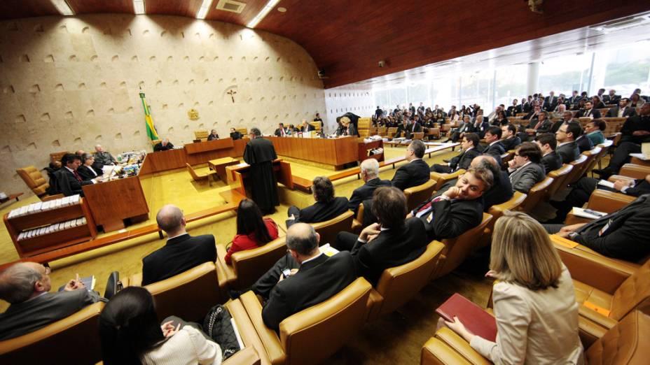 Visão geral do plenário do STF, durante julgamento do mensalão, em 07/08/2012