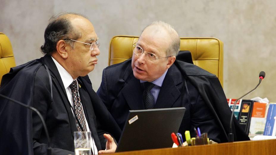 Ministros do STF no julgamento do mensalão, em 09/08/2012