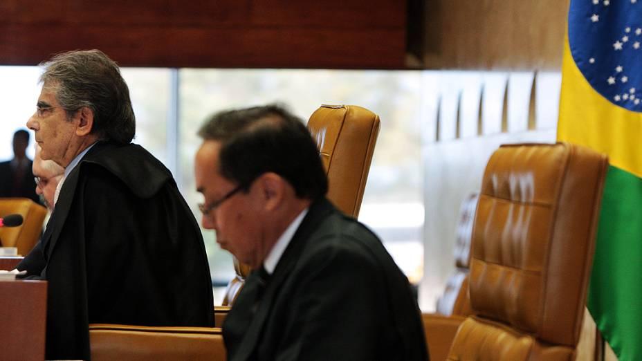 Ministros do STF durante o julgamento do mensalão, em 13/08/2012