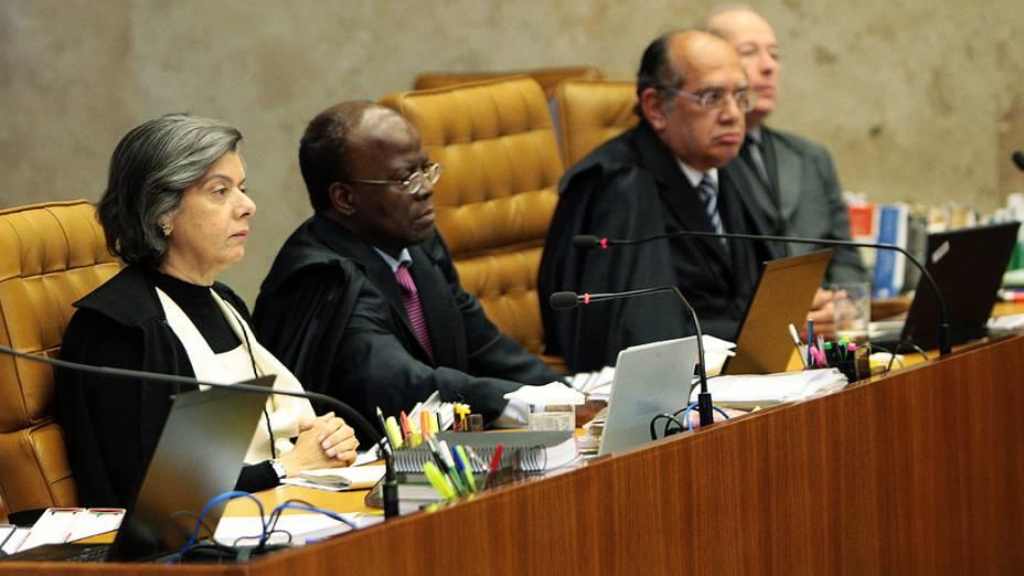 Início da sessão do décimo dia do julgamento do mensalão, em 15/08/2012