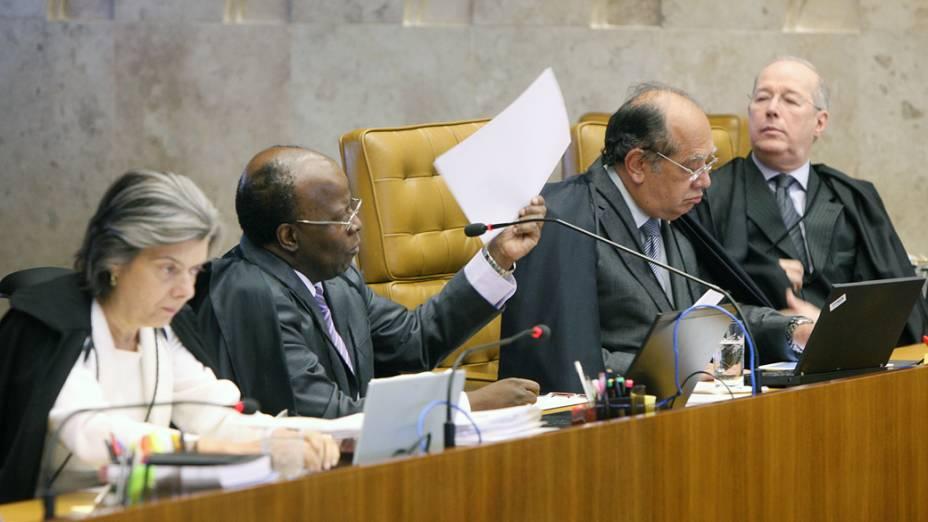 Julgamento do mensalão retomado com voto do relator, ministro Joaquim Barbosa, em 16/08/2012