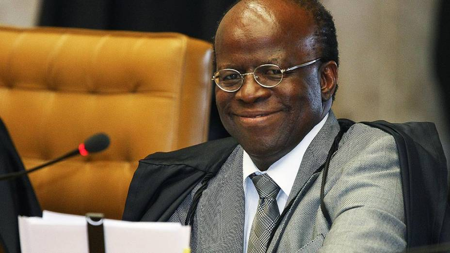Joaquim Barbosa, relator do processo do mensalão, em 03/09/2012