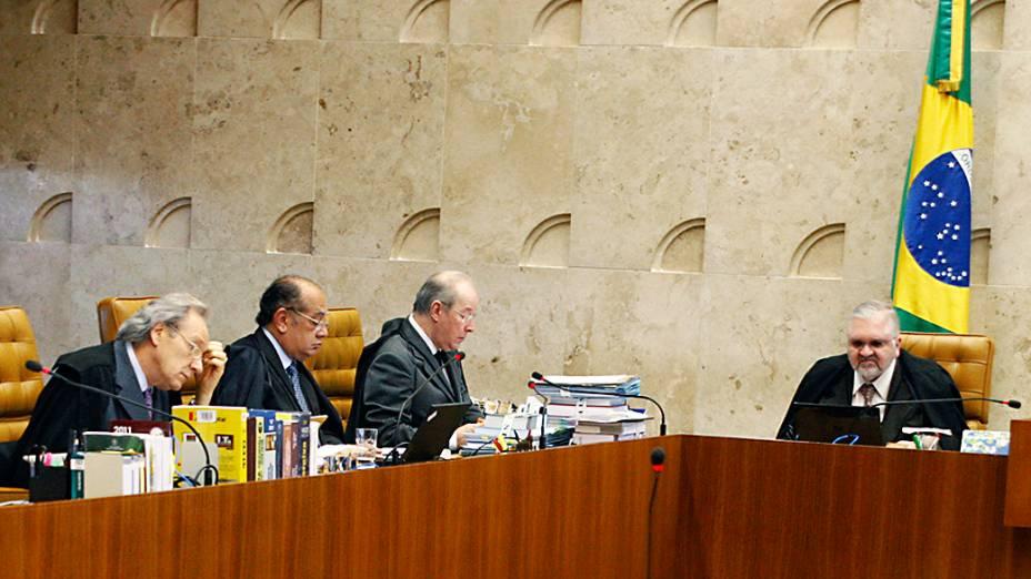Ministro do Supremo Tribunal Federal (STF), Ricardo Lewandovisk durante julgamento do mensalão