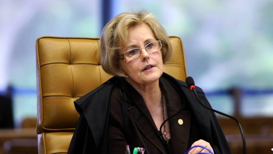 Ministra Rosa Weber do Supremo Tribunal Federal (STF) durante sessão do julgamento do mensalão, em 27/09/2012