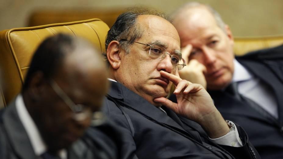Ministros no plenário do STF, durante julgamento do mensalão, em 06/08/2012