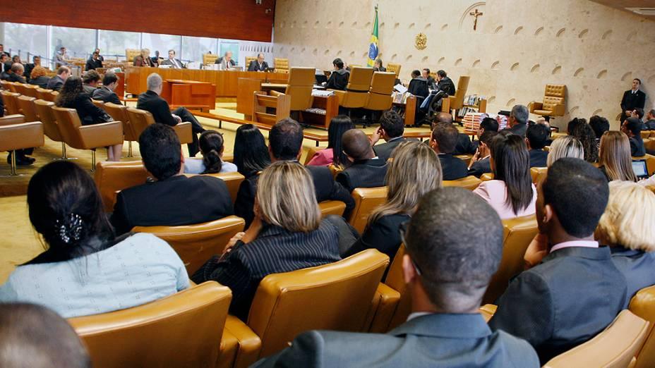 Ministros do Supremo Tribunal Federal (STF) durante sessão do julgamento do mensalão, em 24/09/2012