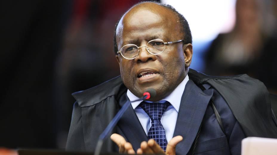 Ministro Joaquim Barbosa, relator, da Ação Penal (AP) 470