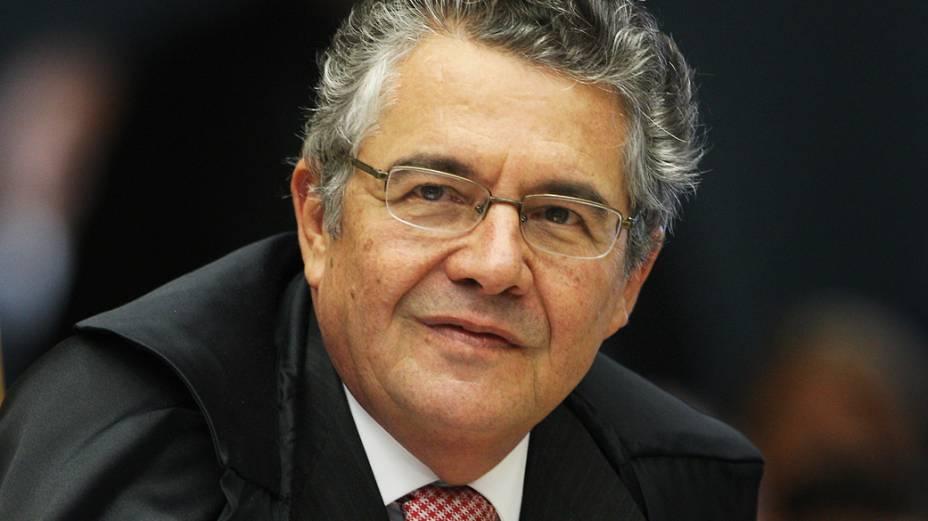 Marco Aurélio durante sessão que julga Ação Penal 470, em Brasília