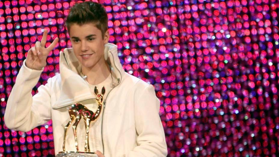 """<p>Justin Bieber durante o """"Bambi Awards 2011"""", na Alemanha</p>"""