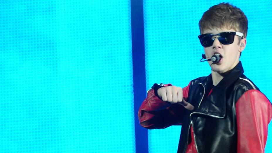<p>Show do cantor canadense Justin Bieber, no estádio do Morumbi em São Paulo</p>