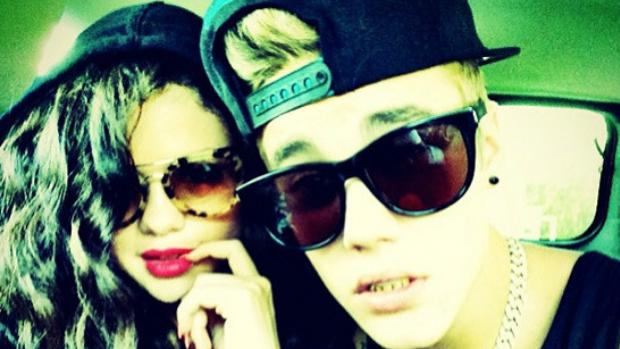 <p>Justin Bieber e Selena Gomez em foto no Instagram</p>