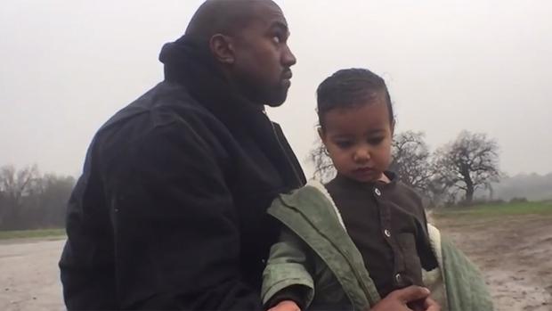 Kanye West e sua filha, North, em clipe de Only One