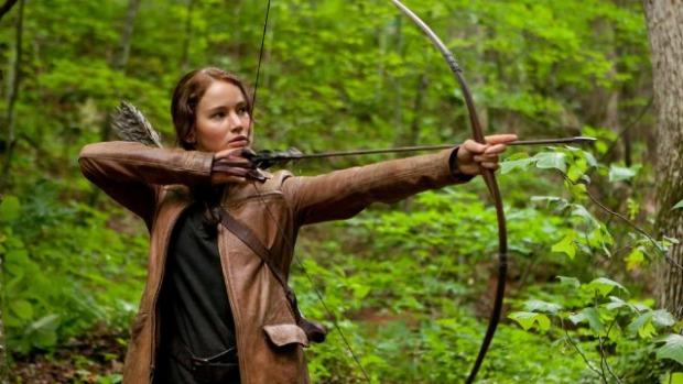 Jennifer Lawrence em cena de <em>Jogos Vorazes</em>