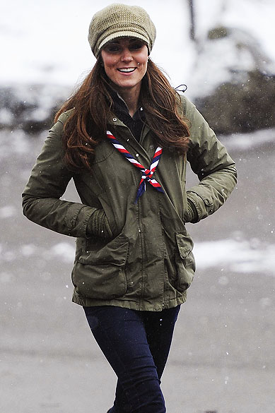 A duquesa de Cambridge, Kate Middleton visitou acampamento de escoteiros no norte da Inglaterra