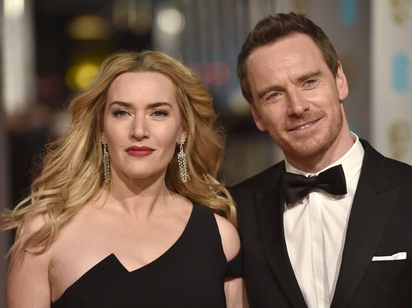 Kate Winslet e Michael Fassbender, estrelas do filme 'Jobs', chegam ao Bafta 2016