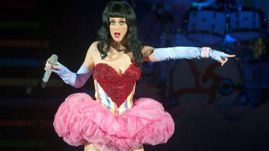 Katy Perry durante apresentação em Londres