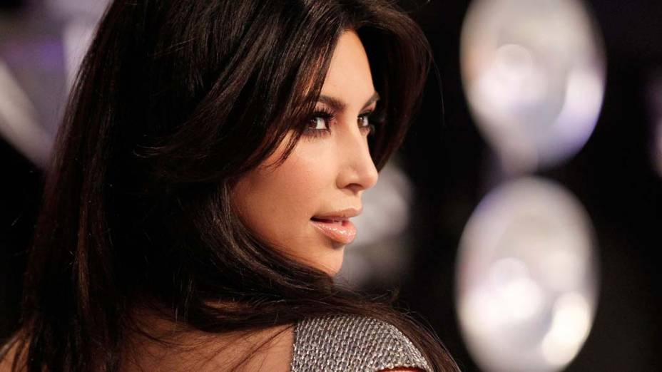 Kim Kardashian na premiação MTV Video Music Awards 2011 em Los Angeles, Califórnia