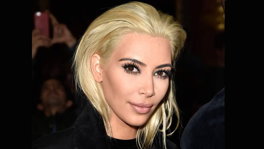 Kim Kardashian na semana de moda de Paris