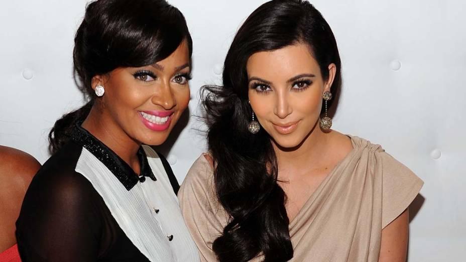 La La Anthony e Kim Kardashian em Nova York