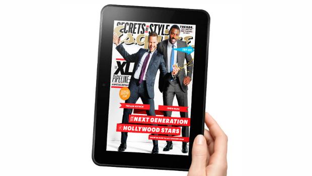 Com tela de 8,9 polegadas, o novo Kindle HD oferece mais detalhe na visualização de revistas digitais