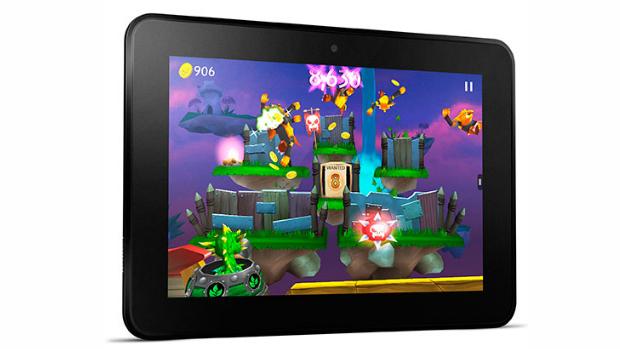 Com tela de alta definição, Kindle Fire HD é ideal para o download de jogos mais sofisticados