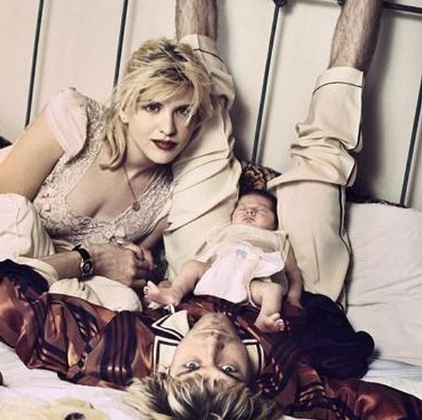 Courtney se declara para Kurt Cobain: Meu maior amor e nossa preciosa Bean