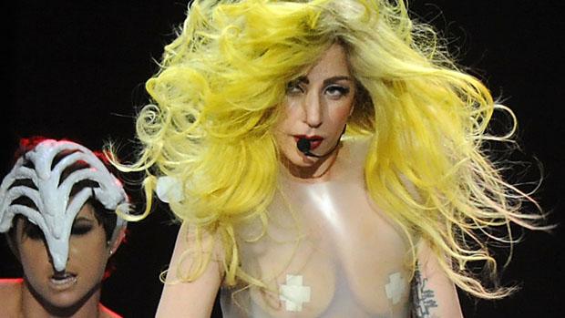 Lady Gaga durante show na Georgia