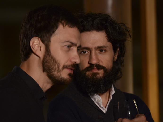 Gabriel Braga Nunes e Fernando Alves Pinto em A Floresta que se Move