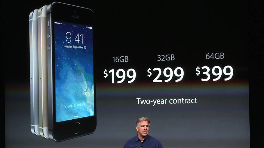 Novo iPhone 5S, apresentado durante evento da Apple em Cupertino, Califórnia