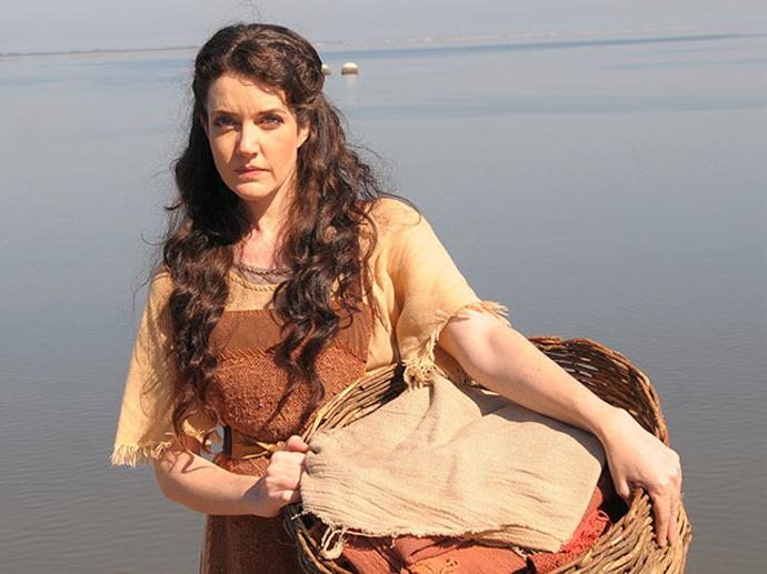 Miriã (Larissa Maciel) em Os Dez Mandamentos