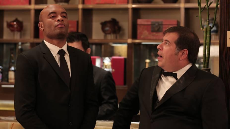 Leandro Hassum e Anderson Silva no filme Até que a sorte nos separe 2