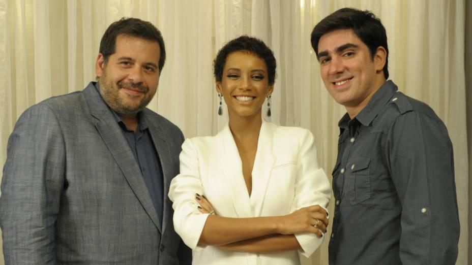Marcelo Adnet, Leandro Hassum e Thaís Araújo: elenco de O Dentista Mascarado