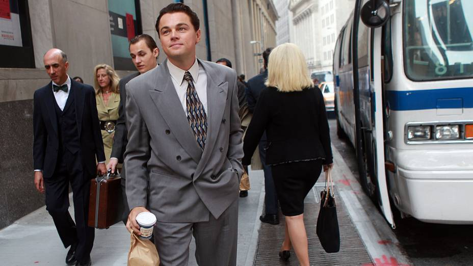 <p>Leonardo DiCaprio em cena de O Lobo de Wall Street</p>