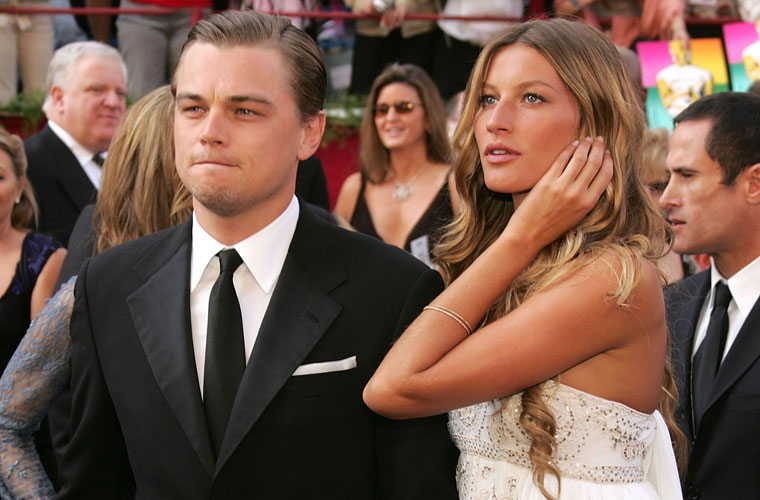 <p>DiCaprio namorou com a modelo brasileira Gisele Bündchen por cerca de cinco anos.</p>