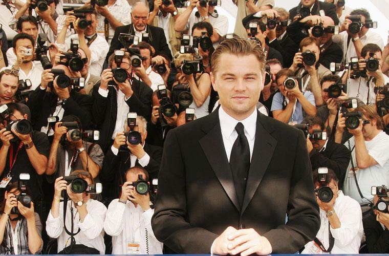 <p>Leonardo DiCaprio chega ao Festival Internacional de Cannes, em 2007.</p>
