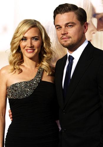 <p>Com a atriz Kate Winslet na pré-estreia de <em>Foi Apenas um Sonho</em>.</p>