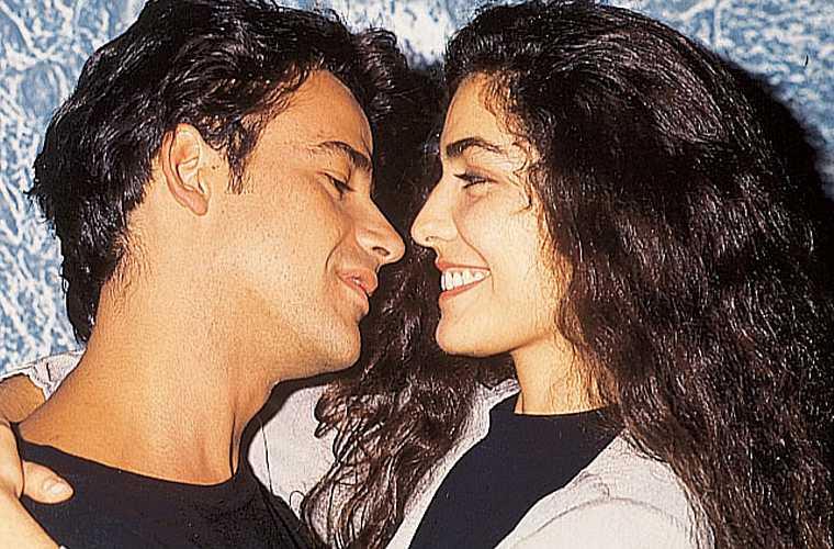 Com Ângelo Antônio, com quem foi casada, em 1991, na novela O Dono do Mundo.