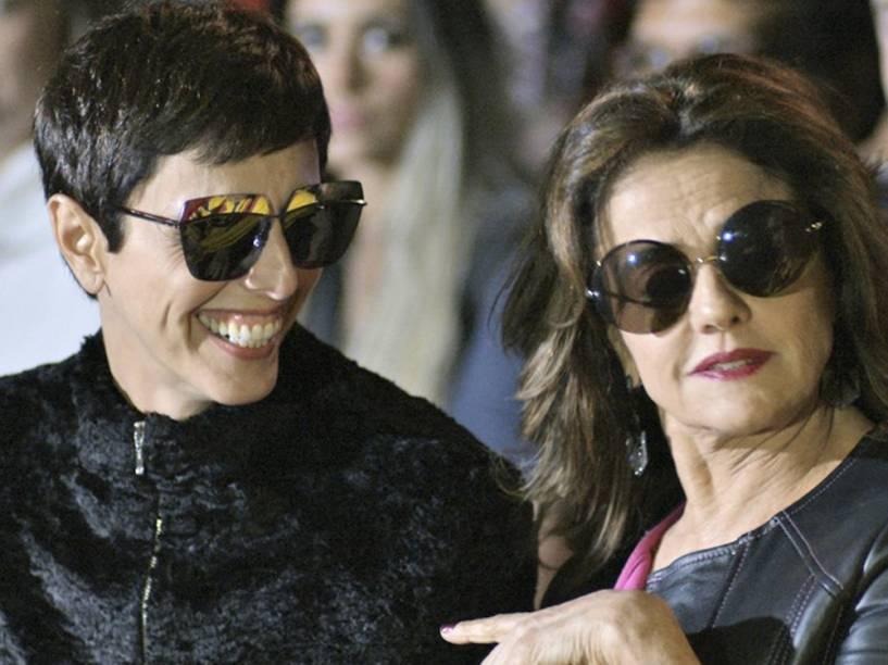 Lilian Pacce participa das gravações de Verdades Secretas ao lado de Marieta Severo