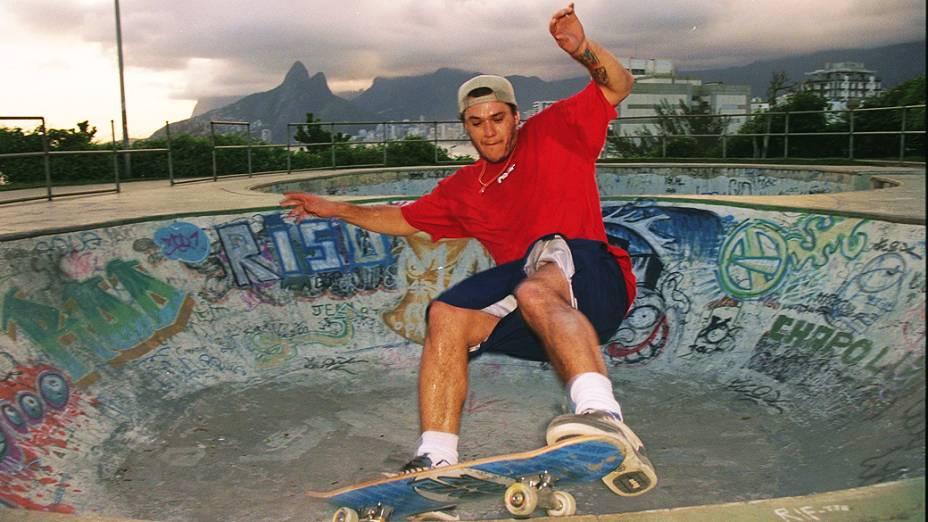 Chorão, vocalista do Charlie Brown Jr., no Rio de Janeiro (2000)