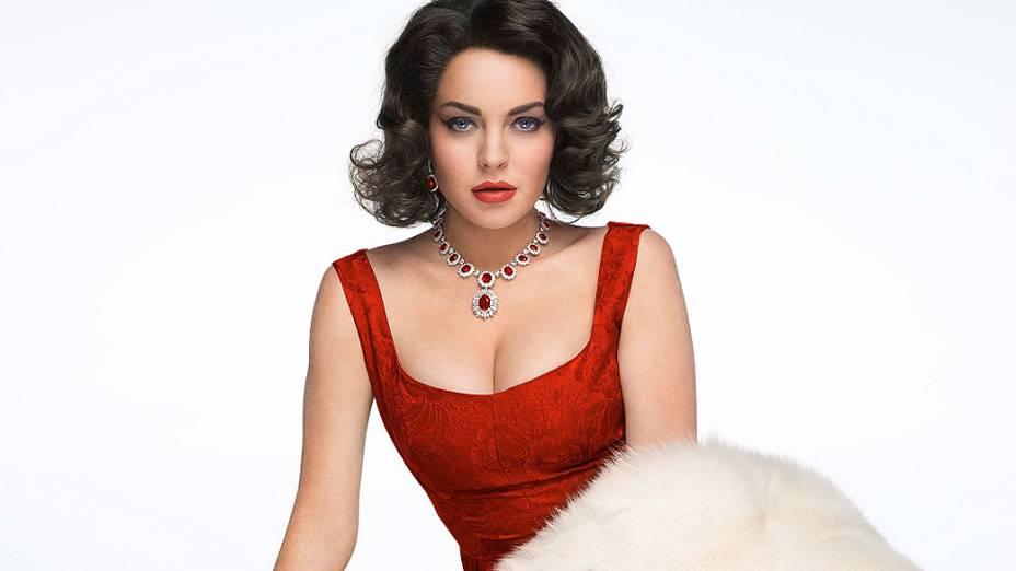 Lindsay Lohan em foto de divulgação do filme Liz & Dick
