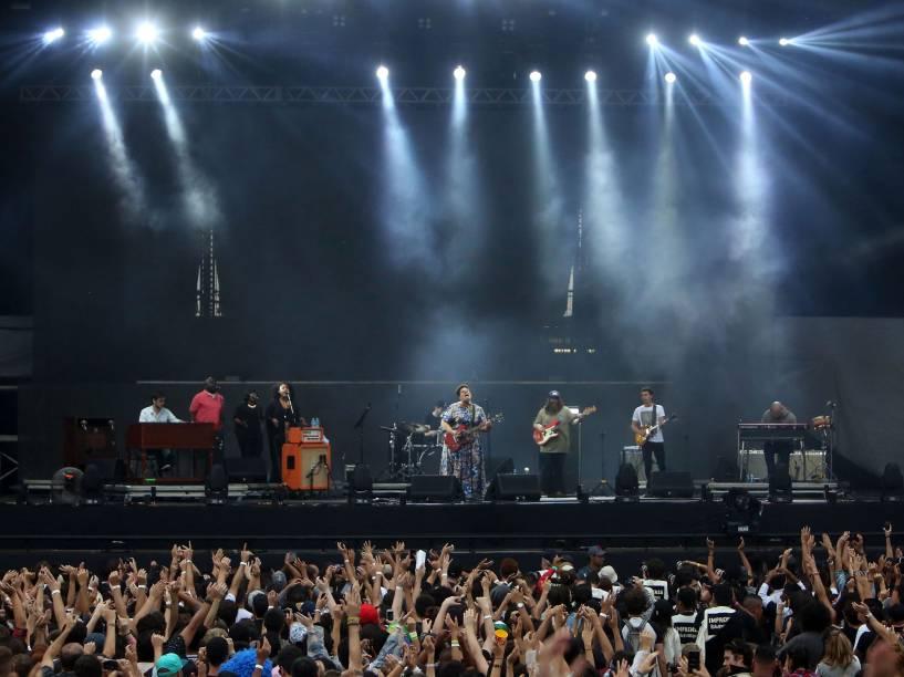 Show da banda Alabama Shakes no segundo dia do Festival Lollapalooza 2016, em São Paulo