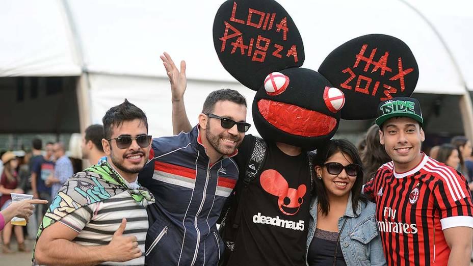 Público no  primeiro dia do festival Lollapalooza, em São Paulo