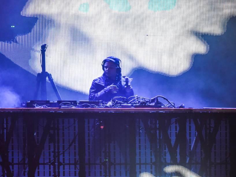 Apresentação do Jack Ü no segundo dia do Festival Lollapalooza 2016, em São Paulo