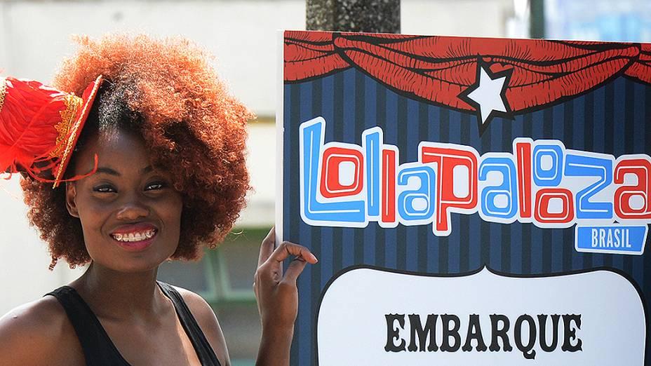 Primeiro dia do festival Lollapalooza, no Jockey Club de São Paulo