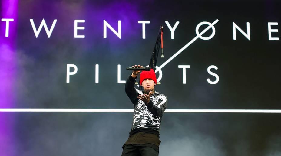 Show da banda Twenty One Pilots no segundo dia do Festival Lollapalooza 2016, em São Paulo