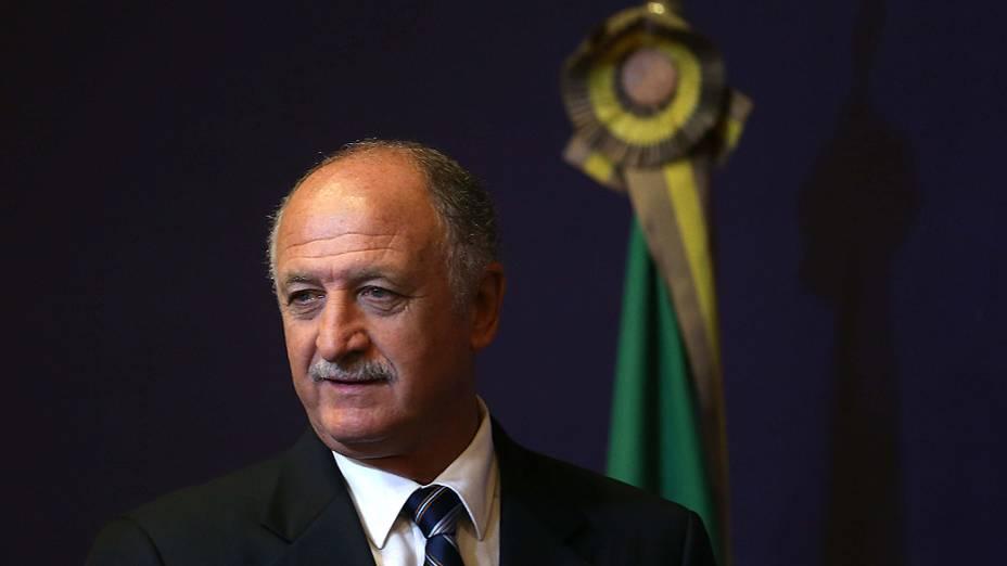 Luiz Felipe Scolari, durante sua apresentação como novo técnico da seleção brasileira