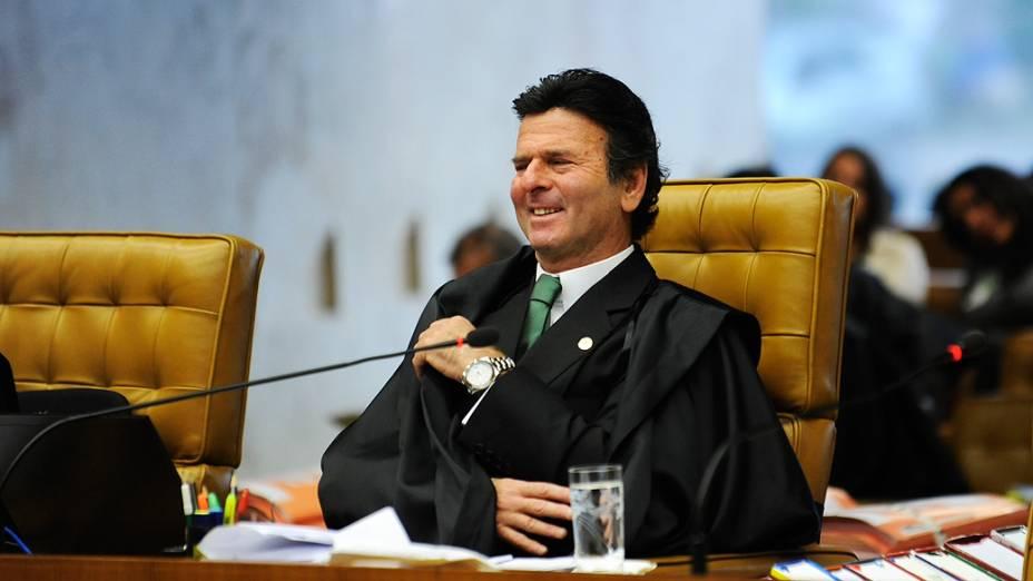 O ministro do STF, Luiz Fux durante julgamento do mensalão, em 11/10/2012